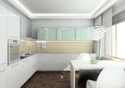3D render modern interior of kitchen