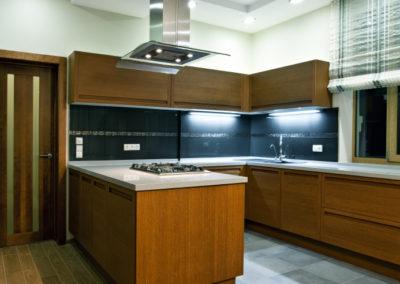 Interior of new modern kitchen